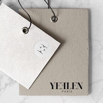 Etiquette de prêt à porter de Yeelen Paris
